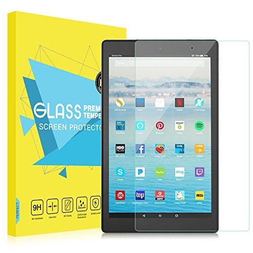 MoKo Folie Kompatibel mit Das Neue Amazon Fire HD 10 Tablet (9. Gen 2019 und 7. Gen 2017 Model) / Fire HD 10 Kids Edition, Klar HD 9H Panzerglas Bildschirmschutzfolie Schutzfolie Glasfolie - Klar