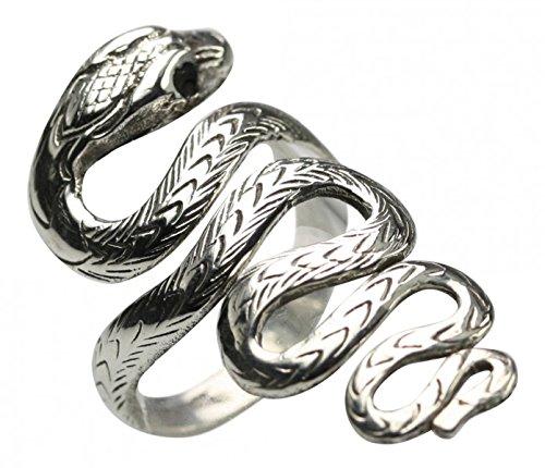 Schlangenring aus 925er Silber, Größe:Größe 60 (19 mm)
