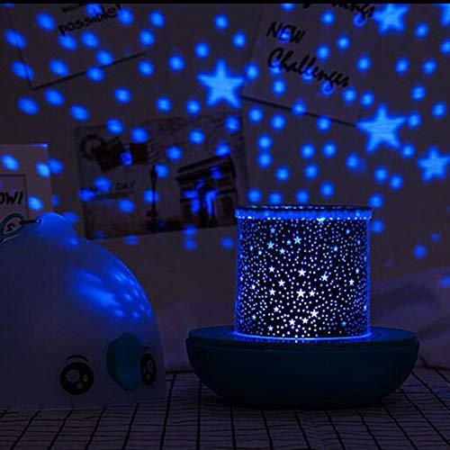 YXZN Lámpara de proyección Starry Sky, Luces nocturnas giratorias para niños, Control Remoto Regulable, para Decorar cumpleaños, Navidad y Otras Fiestas, habitación de un bebé