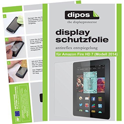 dipos I 2X Pellicola Protettiva antiriflesso Compatibile con Amazon Fire HD 7 (Modell 2014) Pellicola di Protezione