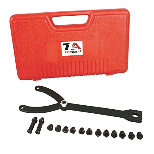 T1A Universal Pulley and Fan Clutch Holder with Seven Pairs of Pins and Adjustable Wrench, Fits Most Sizes of Camshafts, Crankshafts and Retaining Bolts, T1A-LSBH6300