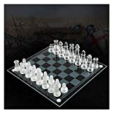 Ya-Ya yaya ajedrez K9 Vidrio ajedrez Elegante Juego de ajedrez Medio Lucha Embalaje Internacional ajedrez Juego Tablero de ajedrez Juego Tablero de ajedrez (tamaño: A)