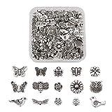 150 cuentas de plata tibetana con diseño de mariposa, diseño de...