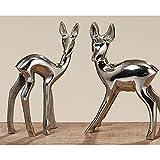 Figur Bambi, 2 sort., Reh, Aluminium, Silber Sortierung: 2 sort.; Metallart: Aluminium; Länge Artikel: 9 cm; Breite Artikel: 13 cm; Anwendbarkeit: Ind