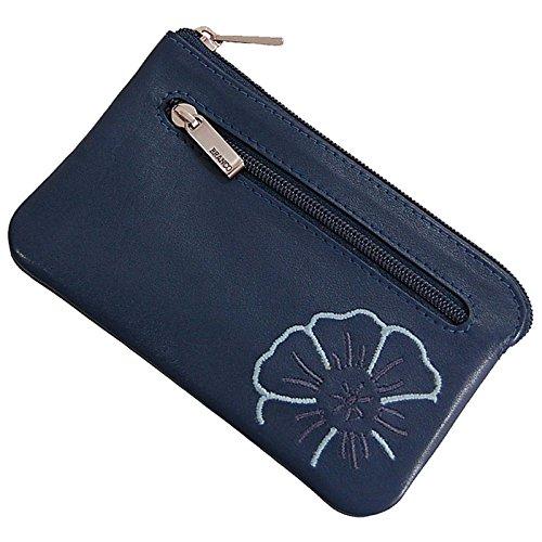 GoBago Branco Leder Schlüsseltasche Schlüsseletui Schlüsselmappe Schlüssel Etui in 4 Farben (Jeans-Blue)