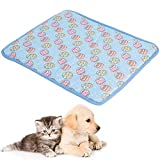 Almohadilla para Perro, NALCY Almohadilla de Hielo para Perros, Colchoneta de Enfriamiento para Mascotas Alfombrilla de Refrigeración Huevos de Pascua (S 50 * 40cm)