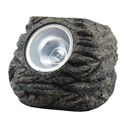 4X Luce Decorativa da Giardino A Forma di Rocce Solari, 3 LED Ip55 Lampada da Esterno A LED Impermeabile Impermeabile con Luci da Giardino