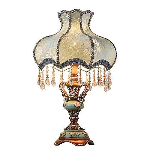 nakw88 Lámpara Escritorio Lámpara de Mesa, lámpara de Noche para Dormitorio, lámpara de Mesa de Tela para decoración de Bodas, iluminación Decorativa (Tornillo)