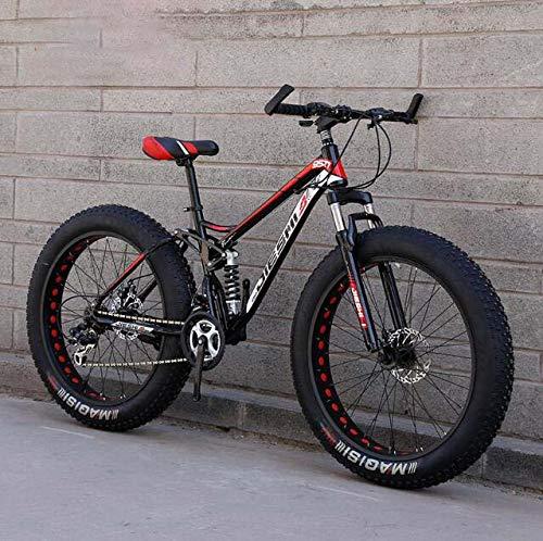 Mountainbike, 4,0 inch dikke band Hardtail Mountainbike Dual Suspension Frame, frame van koolstofstaal, dubbele schijfrem