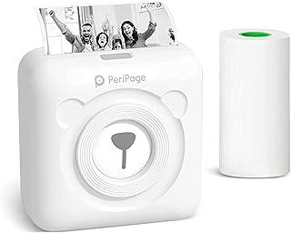 Mini Drucker Multifunktionsgerät Buyounger Mobiler Fotodrucker für Smartphone Bluetooth Drucker Klein Instax Handy Sticker Drucker Thermodrucker USB Taschen Label Drucker Schwarz Weiss ohne Patrone