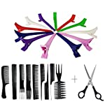 Confidence Professional Hair Styling Tool Set Section Clips And Comb Set With Hair