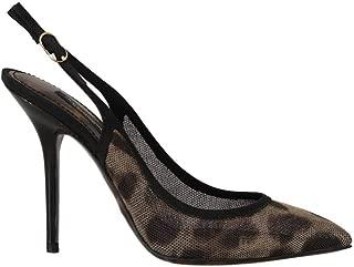 Dolce & Gabbana Brown Leopard Stretch Slingbacks