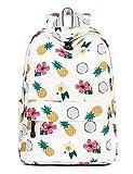 NALIDO Scuola Bookbags per Le Ragazze, Carino Ananas Laptop Backpack Donne Daypack Viaggi Bauletto da,Beige[960]