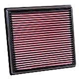 Filtro de aire de motor K&N: de alto rendimiento, Premium, lavable, filtro de reemplazo del panel: 2014-2018 (X3 sDrive 18d, X3 xDrive 20d, X4, X5, X5 xDrive 25d, 518d, 520d), 33-3042