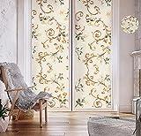 Pegatinas de decoración de ventanas en 3D, pegatinas de vidrio esmerilado, películas de papel de sombreado para ventanas, decorar habitaciones, oficinas, salas de estar, cocinas y casas.