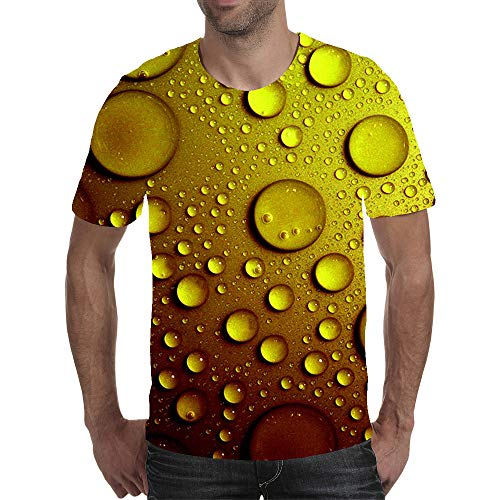 AXDNH Camiseta de la impresión 3D, Moda Unisex Manga Corta Visual del Arte del Modelo Personalizado del Descenso del Agua Aptitud Superior Ocasional,B,5XL
