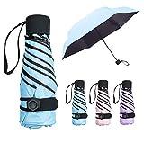 NASUM Mini Parapluie Pliant Ultra Léger Compact Portable Séchage Rapide Résistance aux UV Anti-Vent avec Boucle Hexagone en...
