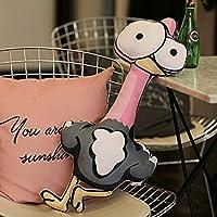 かわいい漫画動物象ライオンゼブラ牛硬い猿猿クリスマス枕クッションぬいぐるみ人形,Ostrich-L