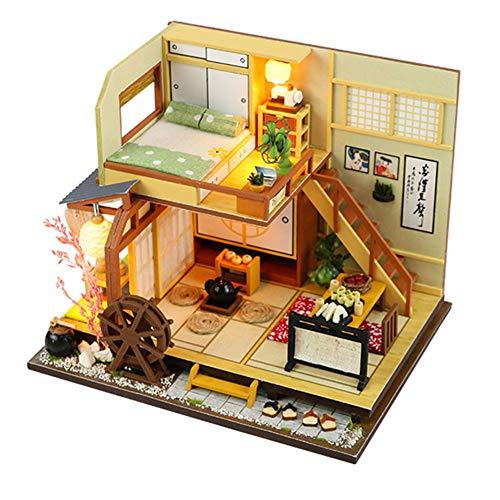 Domeilleur 1 Unidad de casa de muñecas DIY Modelo de casa de Juguete Estilo japonés