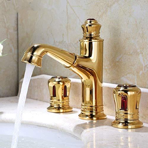 Waterkraan goud messing wastafel waterkraan plafond gemonteerd goud pull out toilet waterkraan koud- en warmwatermengkraan universeel wastafel kraan