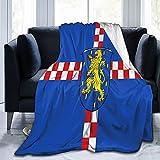 Flanelldecke mit Flagge von limburg-weilburg in Hessen Deutschland, flauschig, bequem, warm, leicht, weich, Überwurf für Sofa, Couch, Schlafzimmer