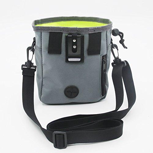 Dressage de chien, avoir des friandises et jouets, distributeur de sac à déjections canines Intégré, taille réglable et ceinture d'épaule, comprend un rouleau de Pet Sacs Poubelle