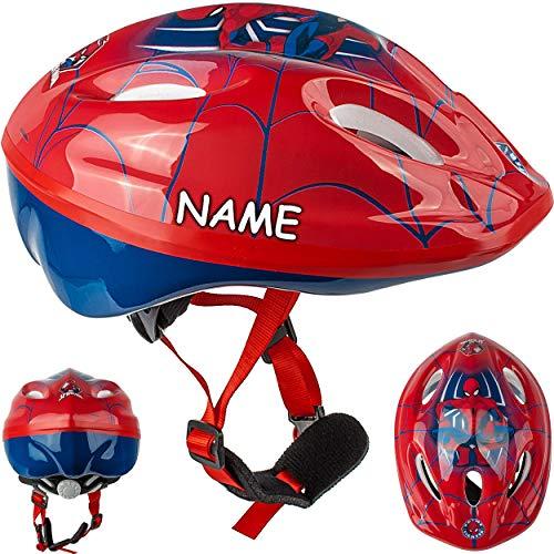 alles-meine.de GmbH Kinderhelm / Fahrradhelm - Spider-Man - Gr. 52 - 56 - Circa 3 bis 15 Jahre - inkl. Name - Größen verstellbar / mitwachsend - TÜV geprüft - Helm - für Roller u..
