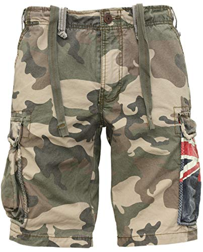 Jet Lag Cargo Shorts SO16-22 Army Green Camouflage Australien, Größe:W33, Stil:Cargoshorts, Farbe:Camouflage