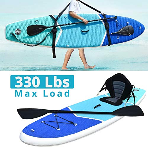 Zupapa Inflatable Stand Up Paddle Board 32 Inches Wide 10 FT Non Slip Deck 350 lbs Maxload Kayak Convertible for...