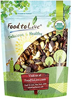 Organic Raw Munchies Snack Mix, 8 Ounces — Raw and Non-GMO Snack Mix Contains Cacao Nibs, Raisins, Almonds, Cashews, Walnu...