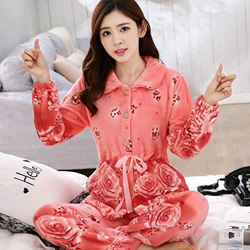 ODMKGE Pijamas de Mujer Conjunto de Pijamas Pijamas Gruesos