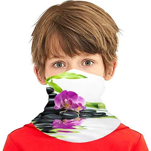 Verctor Wellness Asiatico con Pietre per Massaggi Zen Purple Orchid Copricapo Multifunzione Copricapo Scaldacollo Passamontagna Copricapo per Bambini