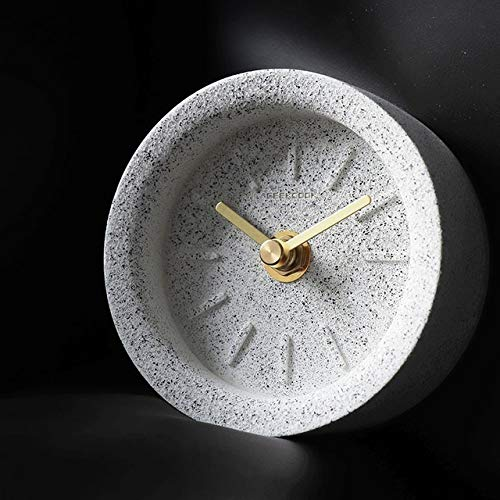 JIAXIN Reloj Pared Reloj Creatuve Reloj De Escritorio De Terrazo De Arena...