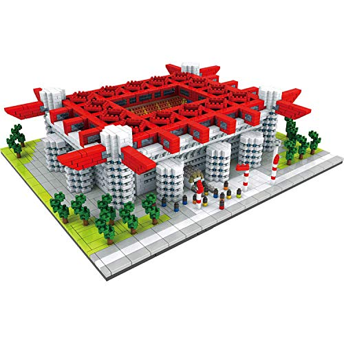 Mr.LQ Miniaturblöcke, San Siro Stadium 3800 Stück Weltberühmte Fußballfeldserie Mini-Bausteine Kits Kinderbau DIY Spielzeug Geschenke