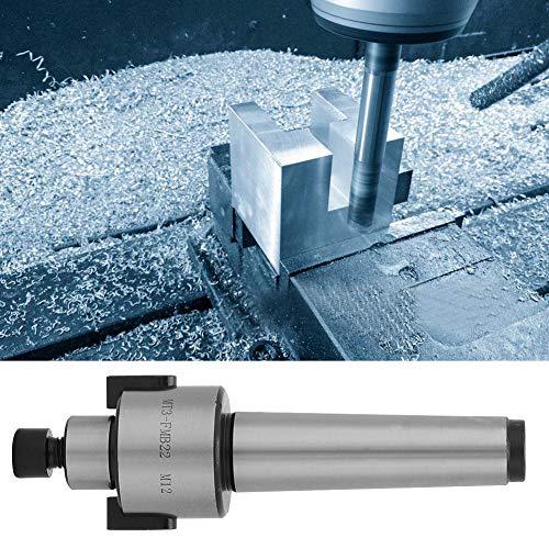 Schaftfräserhalter, Stahl M12 Gewindekegel Fräshalter Fräsdorn Kegel Werkzeughalter 138mm Länge 22mm Nut für Industrieschneider(MT3 FMB22 M12)