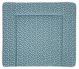 Träumeland TT80204 Wickelauflage Tropfen Ozeanblau PVC-frei, 75 x 85 cm, mehrfarbig