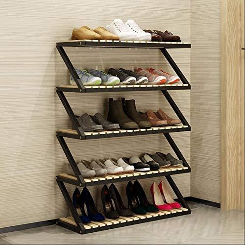 LJHA Chaussure Rack Multi-couche Simple Espace Ménager Grande Capacité En Bois Massif Stockage Rack Porte Armoire Chaussure Salon Maison Chaussure À Chaussures Meubles à chaussures (Couleur : C)