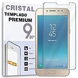 REY Protector de Pantalla para Samsung Galaxy J2 Pro 2018 / Grand Prime Pro 2018, Cristal Vidrio Templado Premium