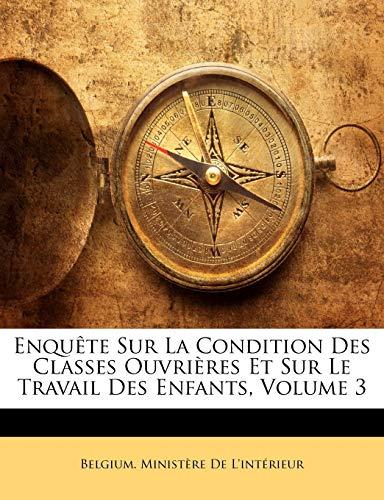 Enquête Sur La Condition Des Classes Ouvrières Et Sur Le Travail Des Enfants, Volume 3 (French Edition)