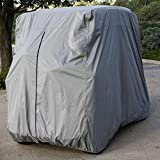 Lmeison 2 Passenger Golf Cart Cover Waterproof Sunproof Golf Cart Cover Fits EZ GO, Club Car and Yamaha, Dustproof and Durable, Grey