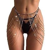 Victray Crystal Belly Waist Chain Beach Layered Body Chains Fashion Waist Jewelry Nightclu...