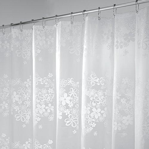 mDesign Duschvorhang - Größe: 180 x 200 cm, Farbe: Durchsichtig - Wasserabweisend - Vorhang Badezimmer - Dusche Badewanne - Leicht zu pflegen