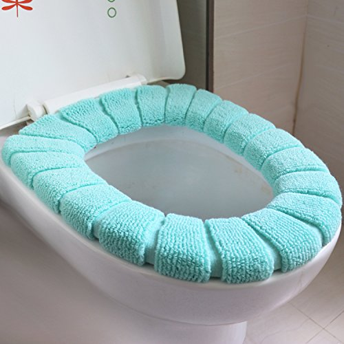 BAOZIV587 Japans Vers Toilet Driedelig Toiletbril Cover Lente en Zomer Toiletbril Kussenzitting Cover U-Shaped Vloermat, O-Shaped Toiletbril Groen