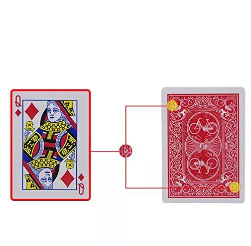 イカサマ トランプ マジック用 プラスチック 手品 ジュースカード (マークドデック)