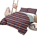 Nomorer 3 Piece Bedding Sets Full Size Abstract Triangle Lightweight Bedroom Bedspread for All Season Herringbone Motif