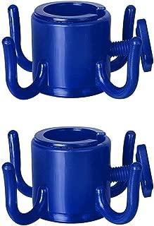 Tasquite Multiuso Sombrilla de Playa Gancho para Colgar 4 Puntas Paraguas de plástico Gancho para Colgar Toallas/Cámara/Gafas de Sol/Bolsas Viajes Azul Paquete de 2 Accesorios de Casa