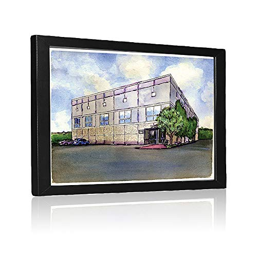 The Office Building Watercolor Painting Poster Dunder Mifflin 8 X 6 inches