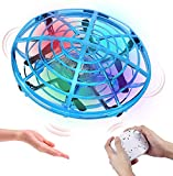 HAAYOT Mini Drone for Kids Remote Control Flying Toys with LED Lights Hand Free Aircraft wit USB Rechargeable UFO Toys for Boys and Girls