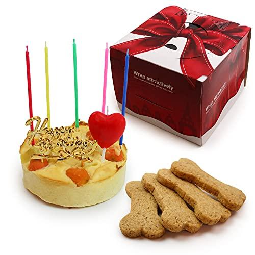 犬用 ベイクドチーズケーキ 3号サイズ(150g) ボーンクッキー 4枚付 【 小型犬~中型犬 用 】 | ドッグケーキ 魔法洋菓子店ソルシエ