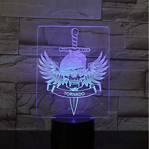 Rutschen Geschenk Halloween Dekor Adler Schädel Alien 3D Nachtlicht Tornado Birne LED USB RGB Stimmung Multicolor Luminaria Kinder Spielzeug Geschenke